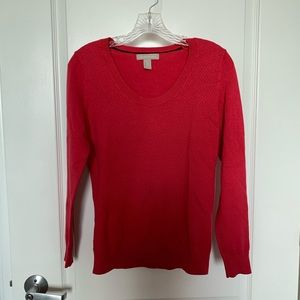 Banana Republic pink/coral cotton sweater